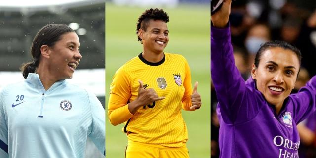 Olympics women's soccer gay players: Sam Kerr, Adrianna (A.D) Franch, and Marta