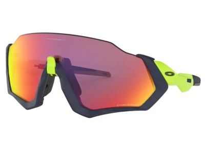 a pair of wraparound Oakley running shades