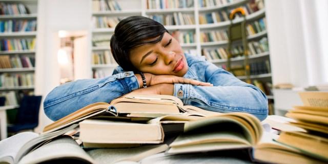 sleepy, reading