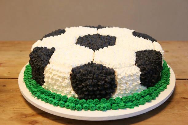 a cake that looks like a football