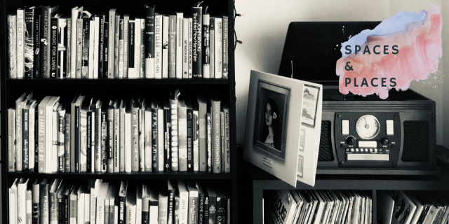 Feature image showing a bookcase and a record player