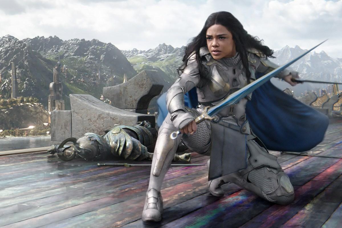 Tessa Thompson in a still from Thor: Ragnarok