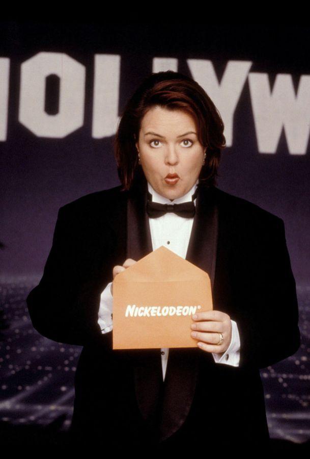 Rosie O'Donnell in tuxedo