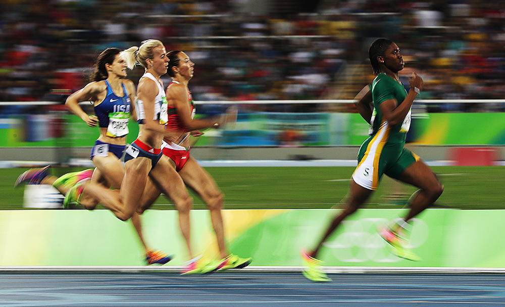 Caster Semenya of South Africa competes in the Women's 800m Semifinals on Day 13 of the Rio 2016 Olympic Games at the Olympic Stadium on August 18, 2016 in Rio de Janeiro