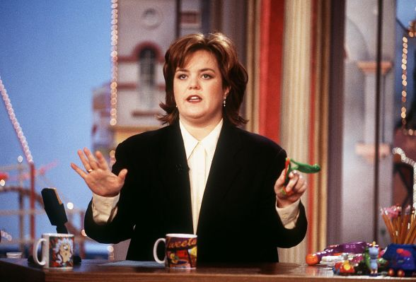 Talk show host Rosie O'Donnell on her show in New York City.