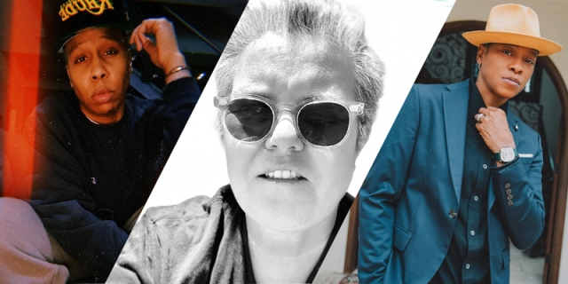 A three-way collage of Lena Waithe, Rosie O'Donnell, and Jessica Betts all looking very hot for the Butch Hall of Fame