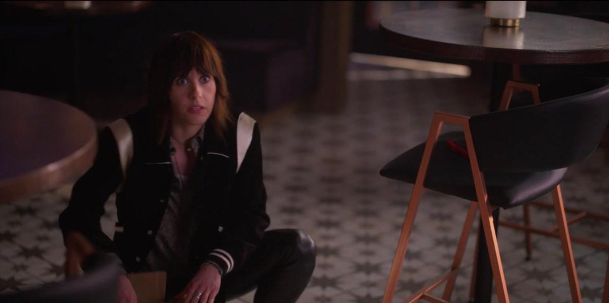 Shane on the floor of the bar