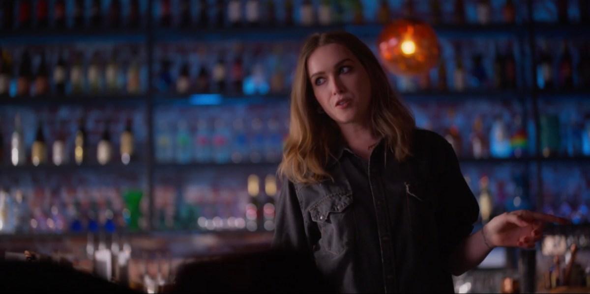 Tess in the bar