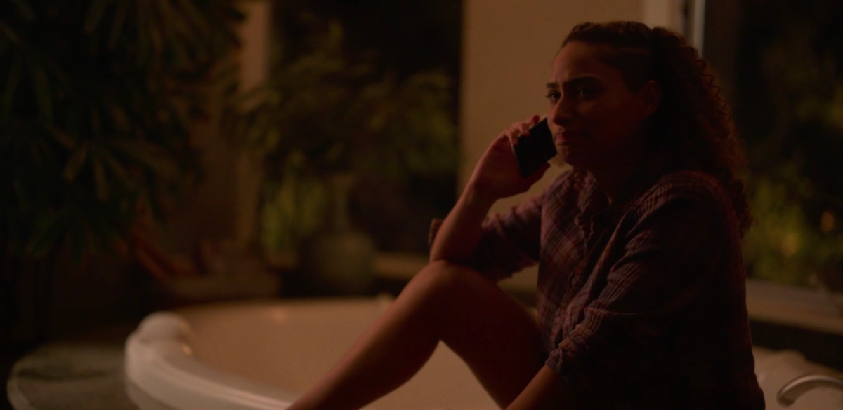 Sophie on the phone