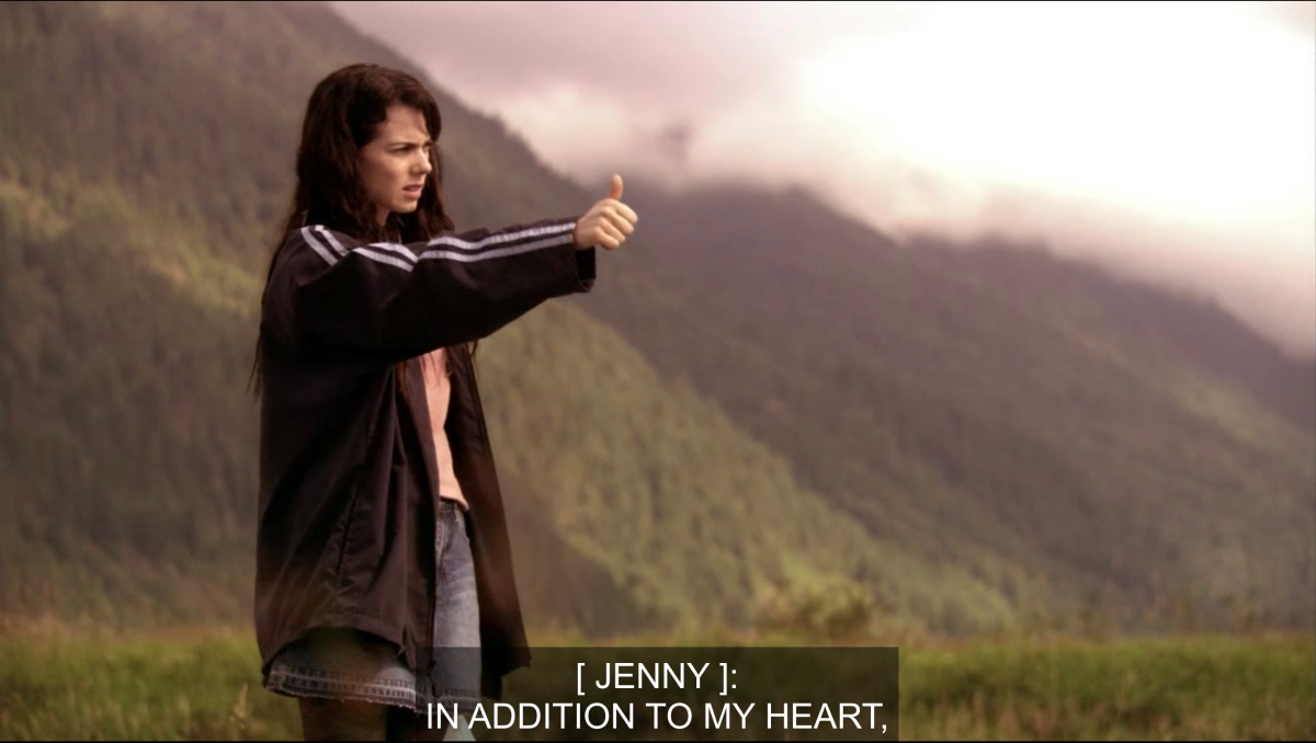 """Jenny hitchhiking """"In addition to my heart"""""""