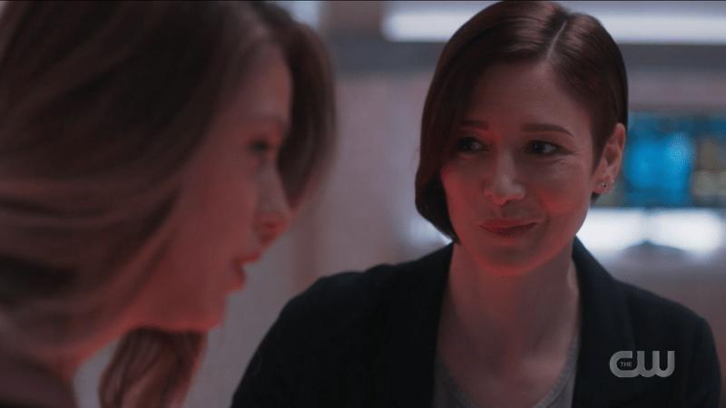 Alex Danvers smirks at her sister