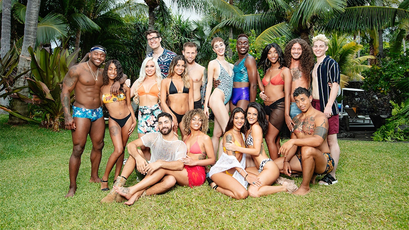 The cast of Are You The One in swimwear