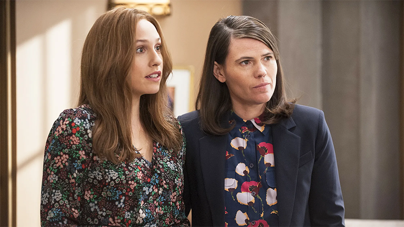 Catherine and Marjorie stand together in Veep
