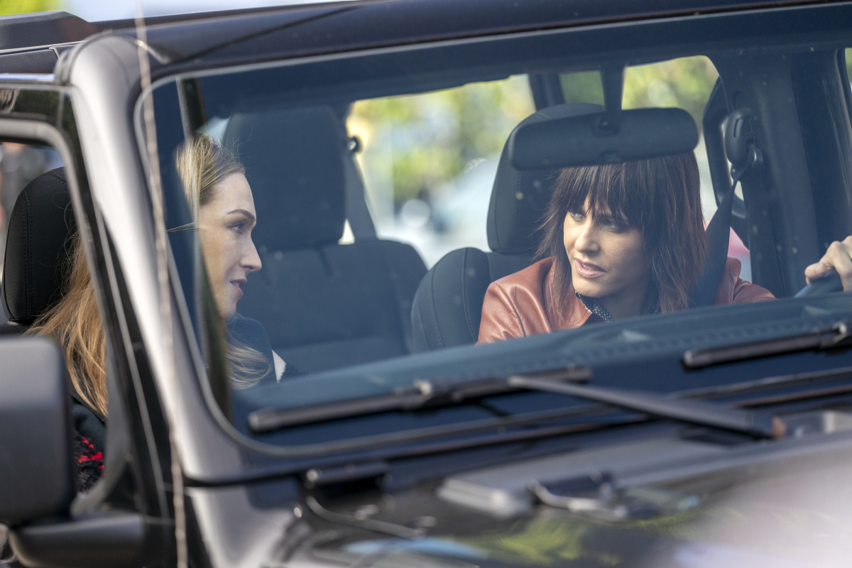 """(L-R): Jamie Clayton as Tess and Katherine Moennig as Shane in THE L WORD: GENERATION Q """"Light"""". Photo Credit: Liz Morris/SHOWTIME."""