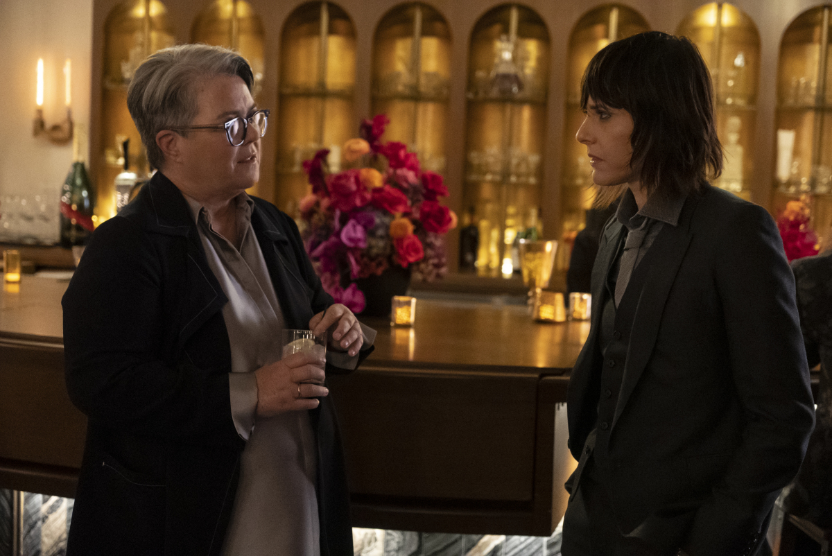 """(L-R): Rosie O'Donnell as Carrie and Katherine Moennig as Shane in THE L WORD: GENERATION Q """"Light"""". Photo Credit: Kelsey McNeal/SHOWTIME."""