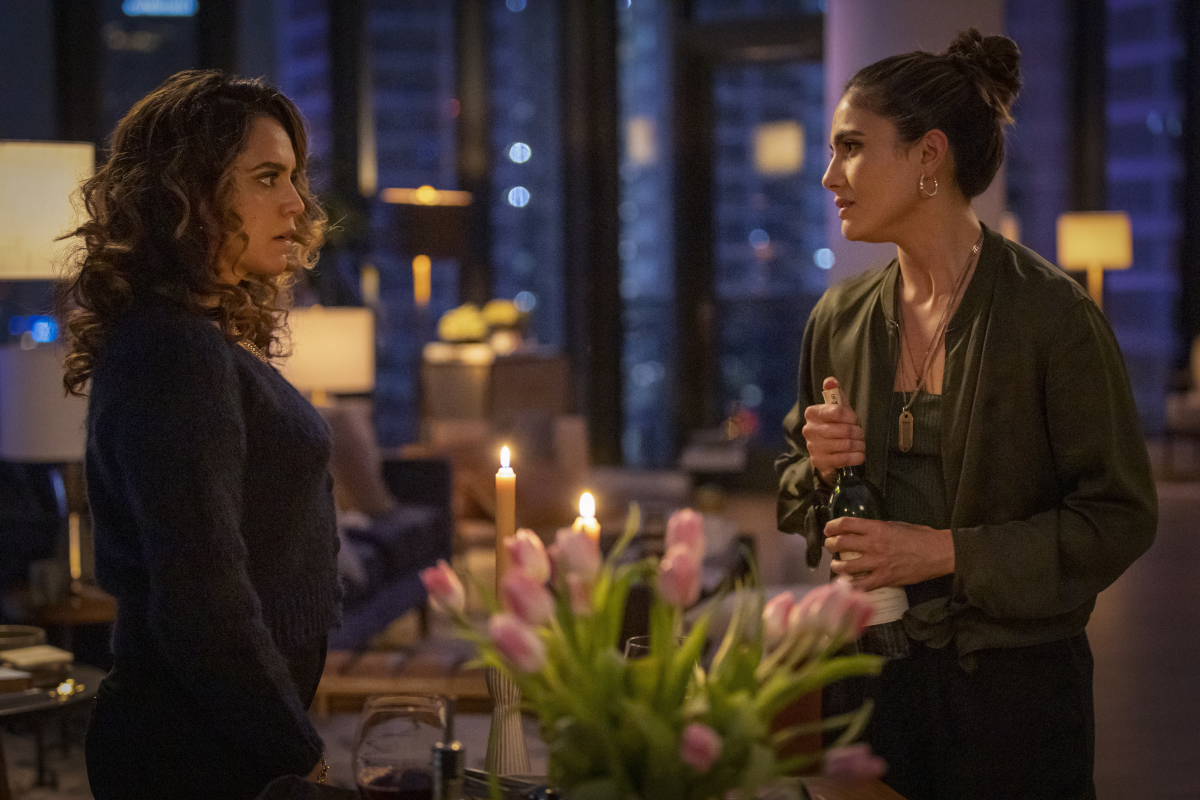 """(L-R): Sepideh Moafi as Gigi and Arienne Mandi as Dani in THE L WORD: GENERATION Q """"Last Dance"""". Photo Credit: Paul Sarkis/SHOWTIME."""