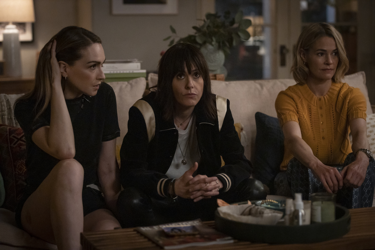 """(L-R): Jamie Clayton as Tess, Katherine Moennig as Shane and Leisha Hailey as Alice in THE L WORD: GENERATION Q """"Last Call"""". Photo Credit: Paul Sarkis/SHOWTIME."""