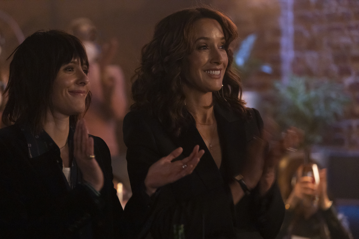 """(L-R): Katherine Moennig as Shane and Jennifer Beals as Bette in THE L WORD: GENERATION Q """"Last Call"""". Photo Credit: Paul Sarkis/SHOWTIME."""