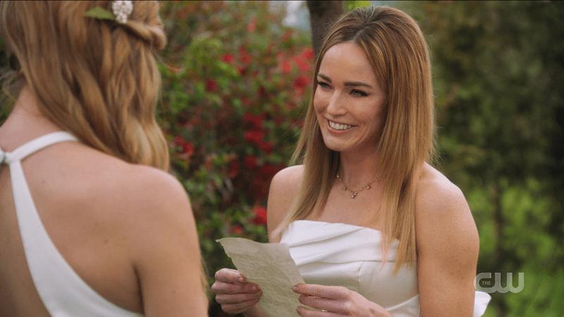 Sara reads her vows