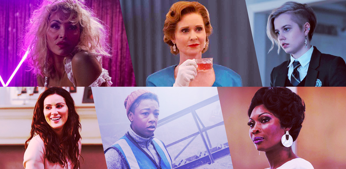 Outstanding Supporting or Guest Actor Playing an LGBTQ+ Character in a Drama Series: Daniela Santiago as Veneno, Veneno; Cynthia Nixon as Gwendolyn Briggs, Ratched; Angourie Rice as Siobhan Sheehan, Mare of Easttown; Stefania Spampinato as Carina DeLuca, Station 19; Samira Wiley as Moira Strand, The Handmaid's Tale; Dominique Jackson as Elektra Abundance Evangelista Wintour, Pose