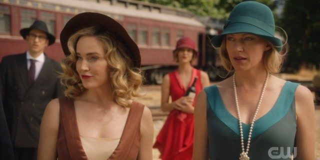 Sara and Ava in their flapper finest as the Bullet Blondes