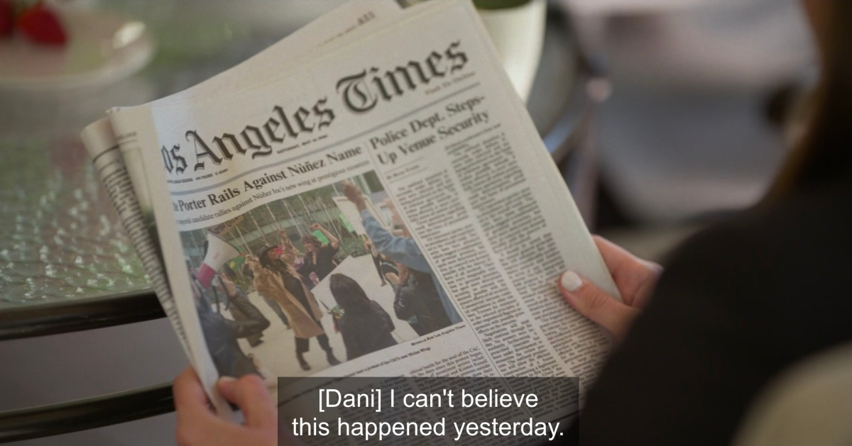 """Dani says """"I can't believe this happened yesterday"""" to the LA times"""