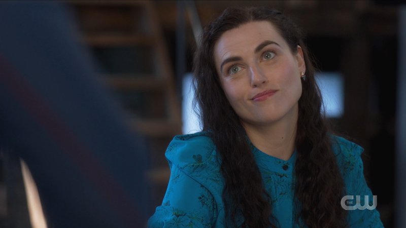 Lena smirks up at Kara
